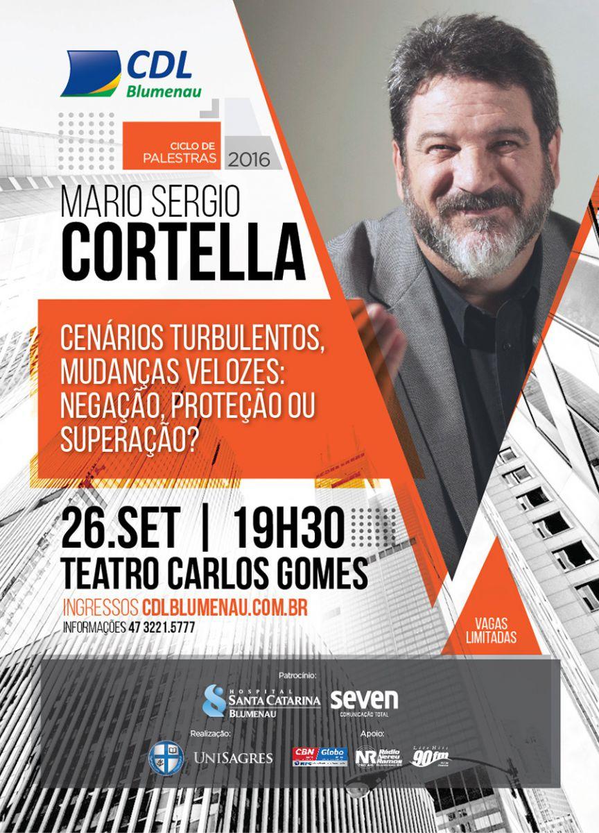 Conhecido Mario Sérgio Cortella é o próximo convidado para o Ciclo de  DK75