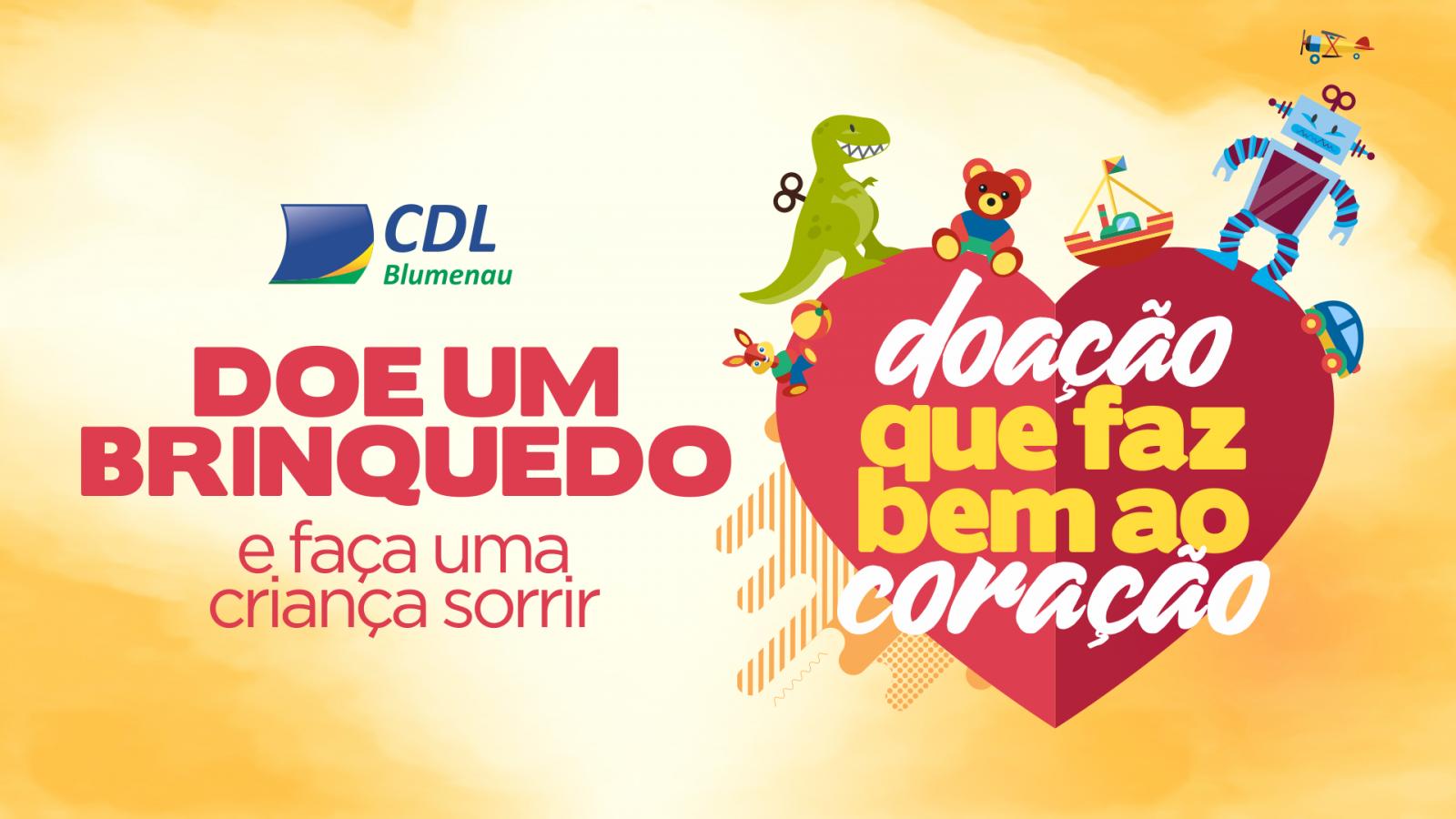 7784c0f395 CDL Blumenau lança campanha do brinquedo para o Natal